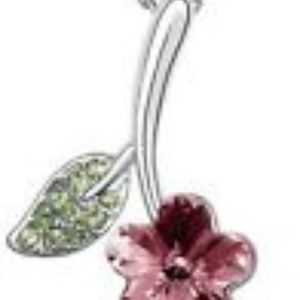 Jewelry - Flower- Austrian Crystal Necklace Pendant/chain